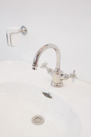 luxury water sink in bathroom photo