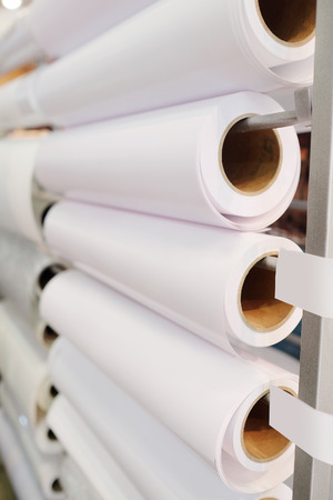 paper roll: Paper roll in a printshop Stock Photo