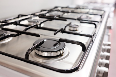 butane: Close up image of the gas stove