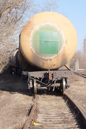 transported: Tanks with fuel being transported by rail