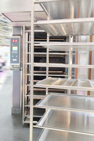 Metal rack for fresh bread photo