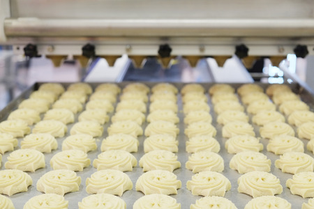 food industry: Production line at bakery