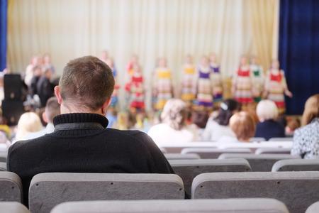 spectators: Spectators watch the concert Stock Photo