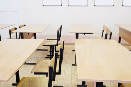 pedagogical: Interior of an empty school class