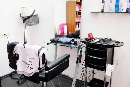 salon de belleza: interior de un salón de belleza Foto de archivo