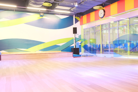 gym room: The interior of the dance studio