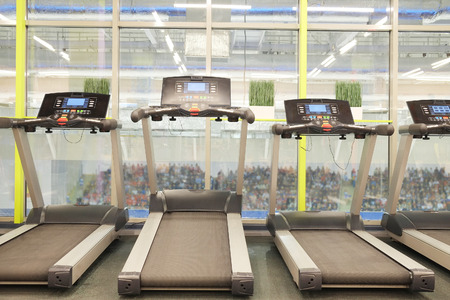 image of treadmills in a fitness hall photo