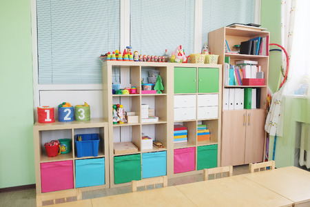 kinder: Detalles Interior jardín de infantes Foto de archivo