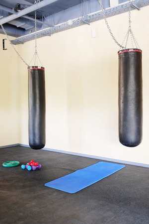 punching: The image of a punching bag