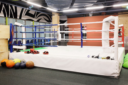 The image of boxing ring Stock Photo
