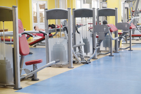 Interior of a fitness hall photo