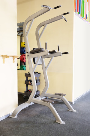 exercice: Modern interior of a fitness club gym with sport equipment modern interior