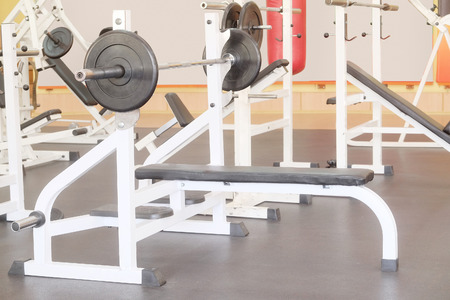 Interior of a fitness Stock Photo