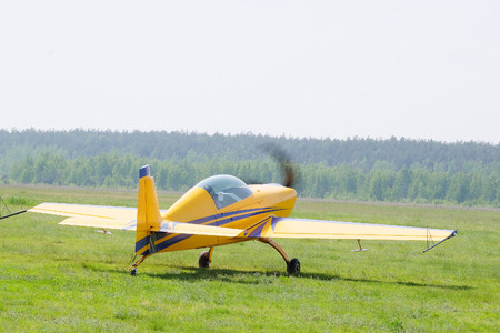 pilotage: The image of a sport propeller airplane Stock Photo
