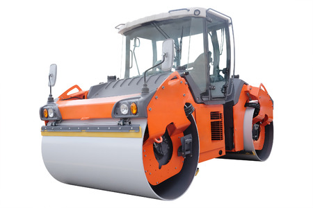 industrial machinery: The image of a road rollers under the white background