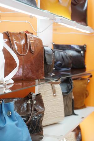 haberdashery: interior of haberdashery with goods on a show-window