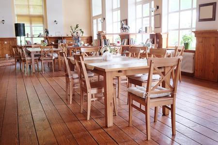 Interior of a modern cafe photo