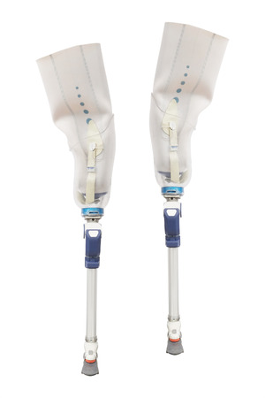 limb: Artificial limb under the white background Stock Photo