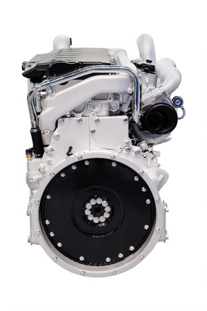 supercharger: The image of an engine under the white background