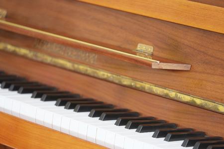 piano closeup: The image of a closeup keyboard of a piano