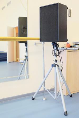sound speaker: Sound speaker on stand Stock Photo