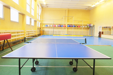 sport hall: table tennis in a sport hall