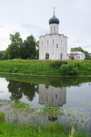 bogolyubovo: Church of the Intercession on the Nerl in Bogolyubovo near Vladimir, Russia