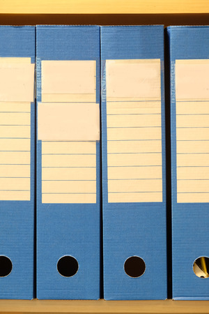 dossier: The image of folders on a shelf Stock Photo