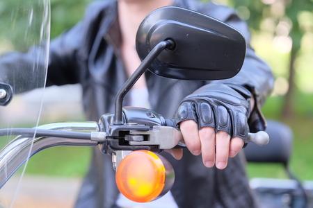 motor-cyclist Stock Photo