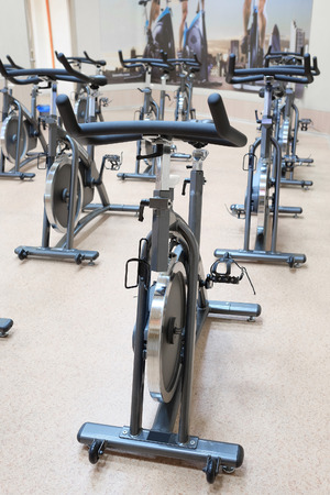 bycicle: The image of fitness bycicle