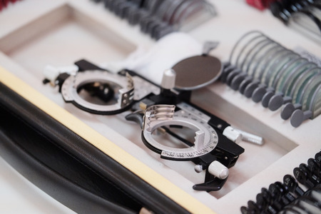 The image of an optometry set