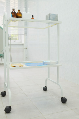 little table: Mobile little table with medical accessories