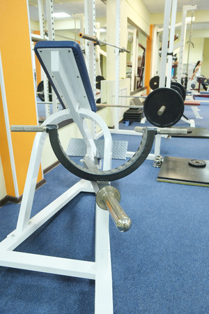 heavy heart: The image of a fitness hall