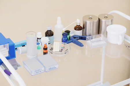 mobile accessories: Mobile little table with medical accessories
