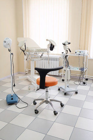 aseptic: Gynecological chair in gynecological room