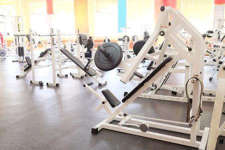 Interieur van een fitness Stockfoto
