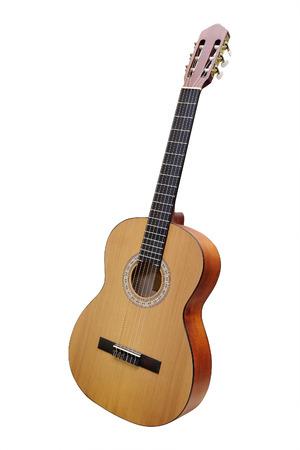 guitarra acustica: Guitarra aislado en el fondo blanco