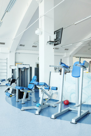 heavy heart: Interior of a fitness hall
