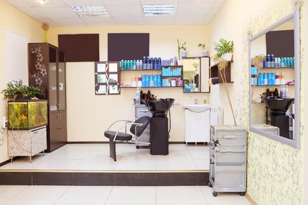salon beauty: interior de un sal�n de belleza Editorial