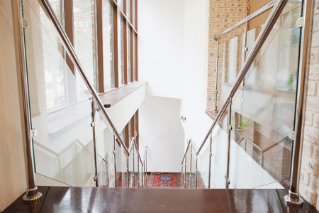 spiraling: Interior with the image of a modern stair Editorial