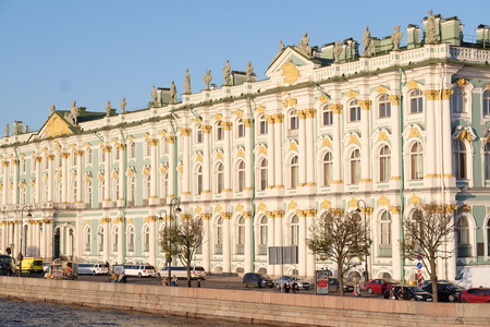 hermitage: Winter Palace and Hermitage musium in St-Petersburg Editorial