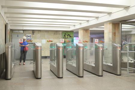 piter: Interior of a subway station
