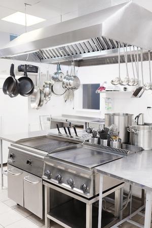 Cucina professionale in un ristorante Archivio Fotografico