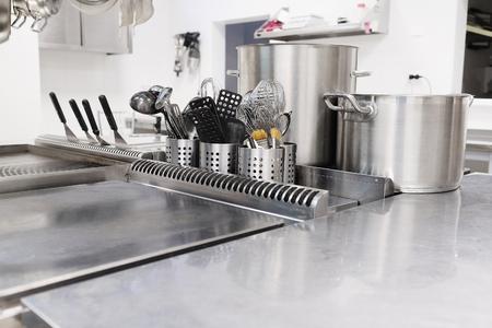 레스토랑의 전문 주방 스톡 콘텐츠 - 45536557