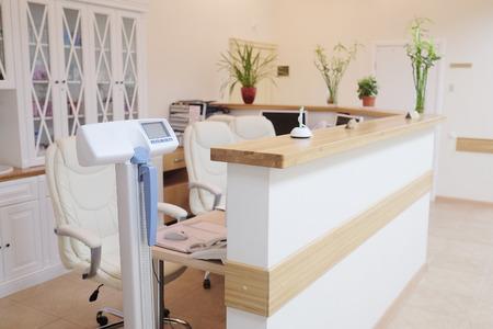 hall monitors: Interior of a hospital reception