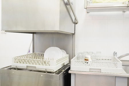 The image of a professional dishwasher Banque d'images