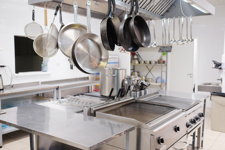 metal steel: Professional kitchen in a restaurant