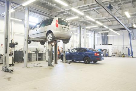 car repair shop: Interior of a car repair shop Stock Photo