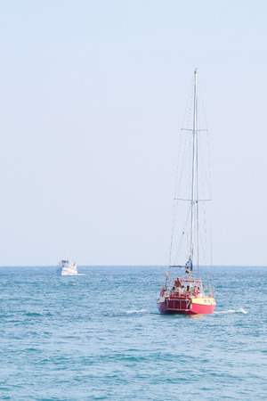 sailer: The image of sailer in the sea Stock Photo