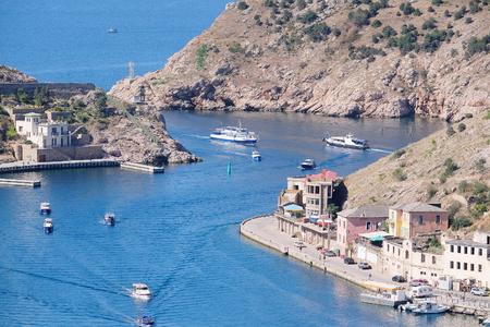 veiw: Veiw to Balaclava, Crimea, from the hill